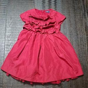 Gap Baby Burgundy Ruffle Party Dress 3Yrs